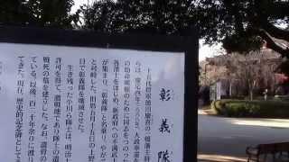 上野公園の「彰義隊の墓」-西郷隆盛の銅像の横にある.