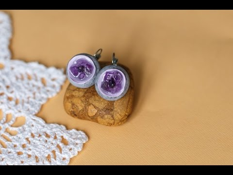 Делаем серьги с аметистом. Make earrings with amethyst.