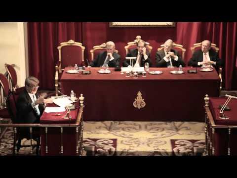 Conferencia de D. José Manuel Serrano Alberca en la Real Academia de Jurisprudencia y Legislación