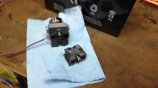 Starter panel LED push button ignition switch in detail