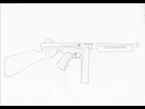 How To Draw Thompson Smg Youtube