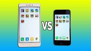 Xiaomi Redmi Note 4 vs iPhone 5s - ТЕСТ СКОРОСТИ (SpeedTest)