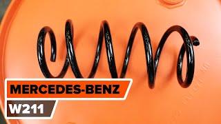Kaip pakeisti priekis pakabos spyruoklė MERCEDES-BENZ (W211) E Klasė [AUTODOC PAMOKA]