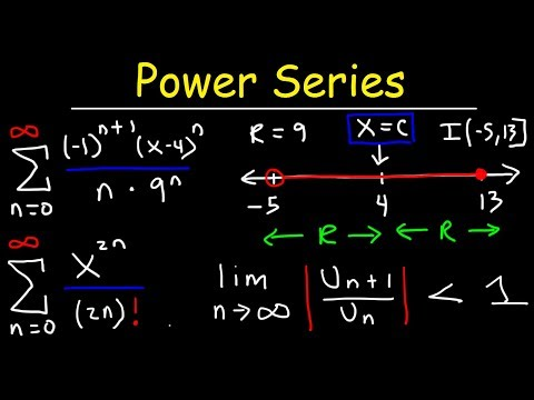 Power Series - Finding The Radius & Interval of Convergence - Calculus 2