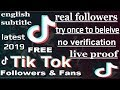 Gambar cover How to increaseally / Tik Tok Followers with proof  nov.2019 | no survey |no app.