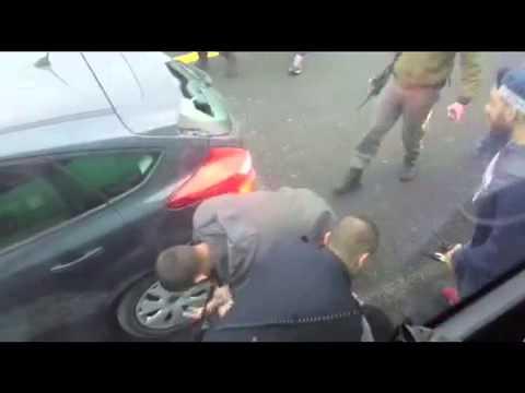 צפו: גנב רכב נלכד על כביש מס׳ 1