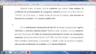Centro de Estudios Técnicos de Sanidad: Dotación personal de los vehículos sanitarios