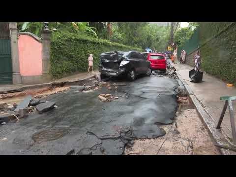 Flash Floods In Rio De Janeiro Leave Three People Dead
