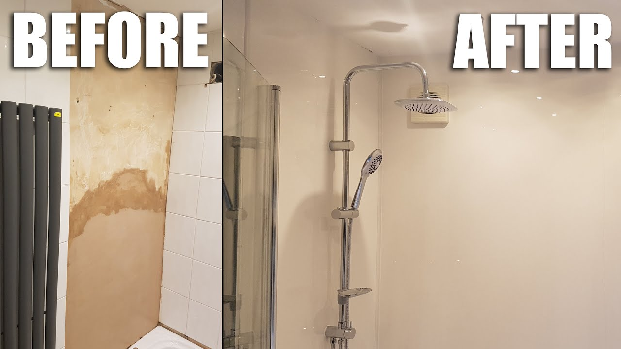 How To Install Shower Wall Panels In A Bathroom Youtube