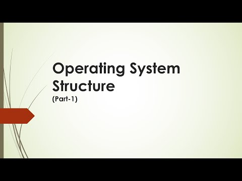 Operating System Structure Part 1