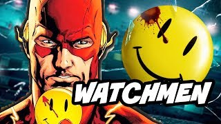 Watchmen HBO DC Comics Series and The Flash Button Explained