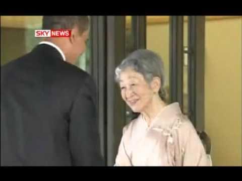 Barack Obama Bows to Japanese Emperor