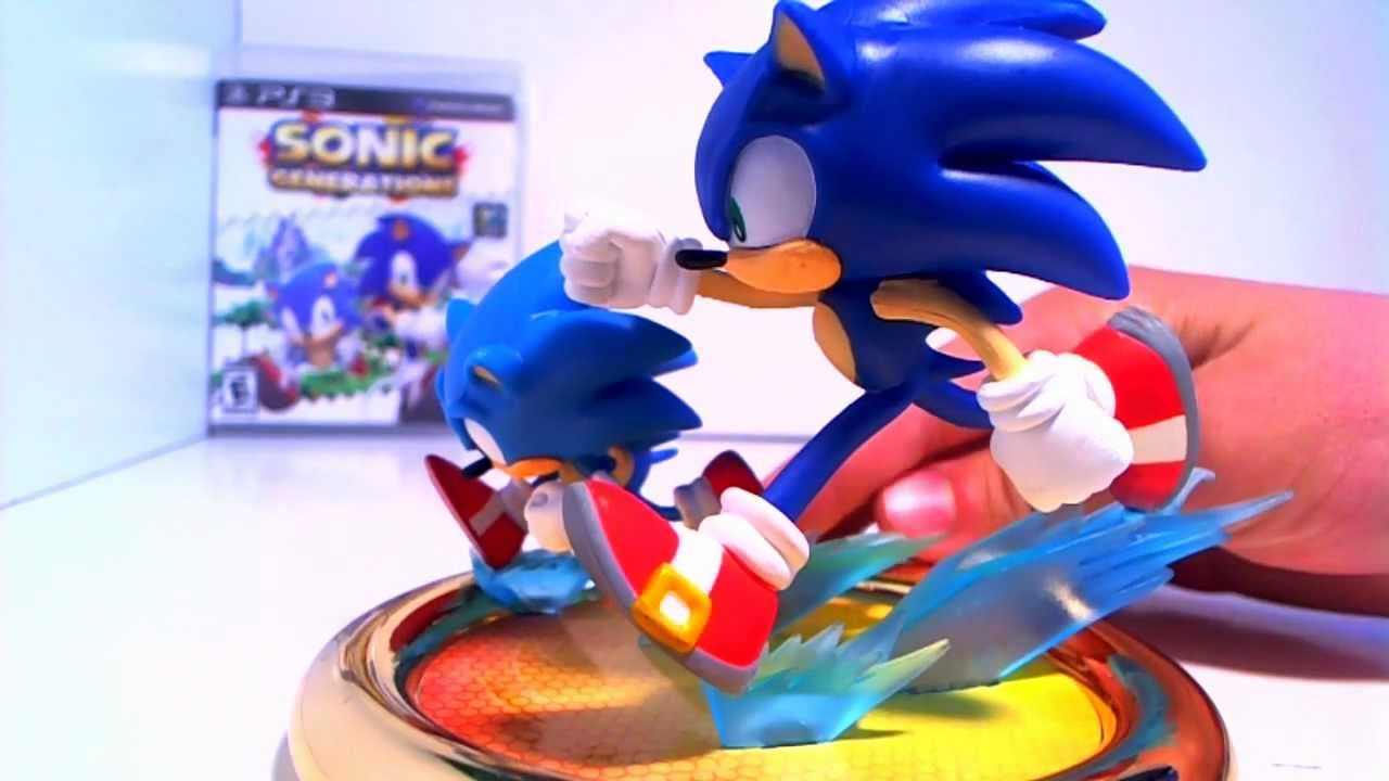 Review Sonic Generations Statue Jazwares Youtube