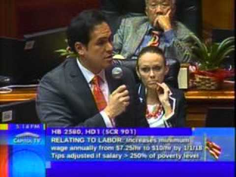 Rep. Aaron Ling Johanson Addresses  HB 2580 - Minimum Wage; Employment