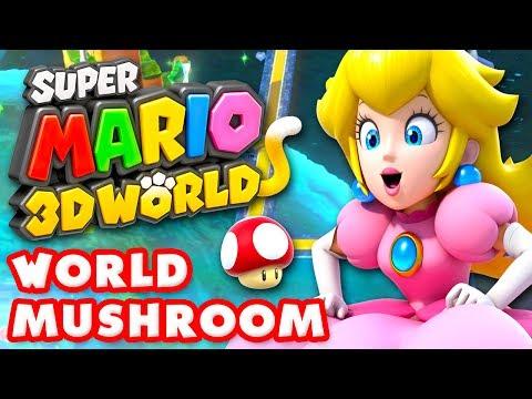Super Mario 3D World - World Mushroom 100% (Nintendo Wii U Gameplay Walkthrough)