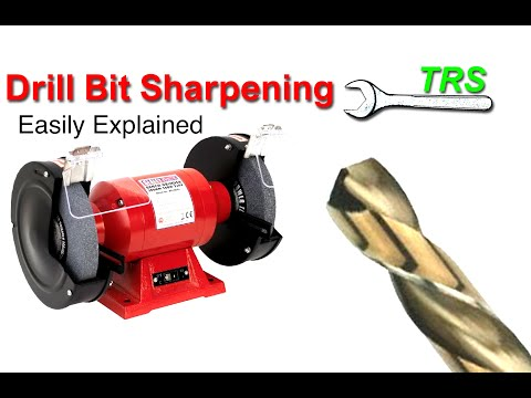 How to Sharpen a Drill Bit, Free Hand, and angle a Drill Bit