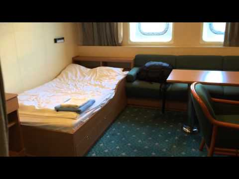 My cabin on a cargo ship.