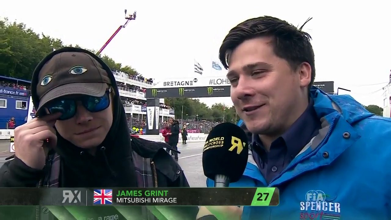 Rupert Grint And His Brother James Interviewed At The Rallycross Championship Youtube