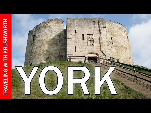 Tour York England (Great Britain) travel video guide; England tourism attractions