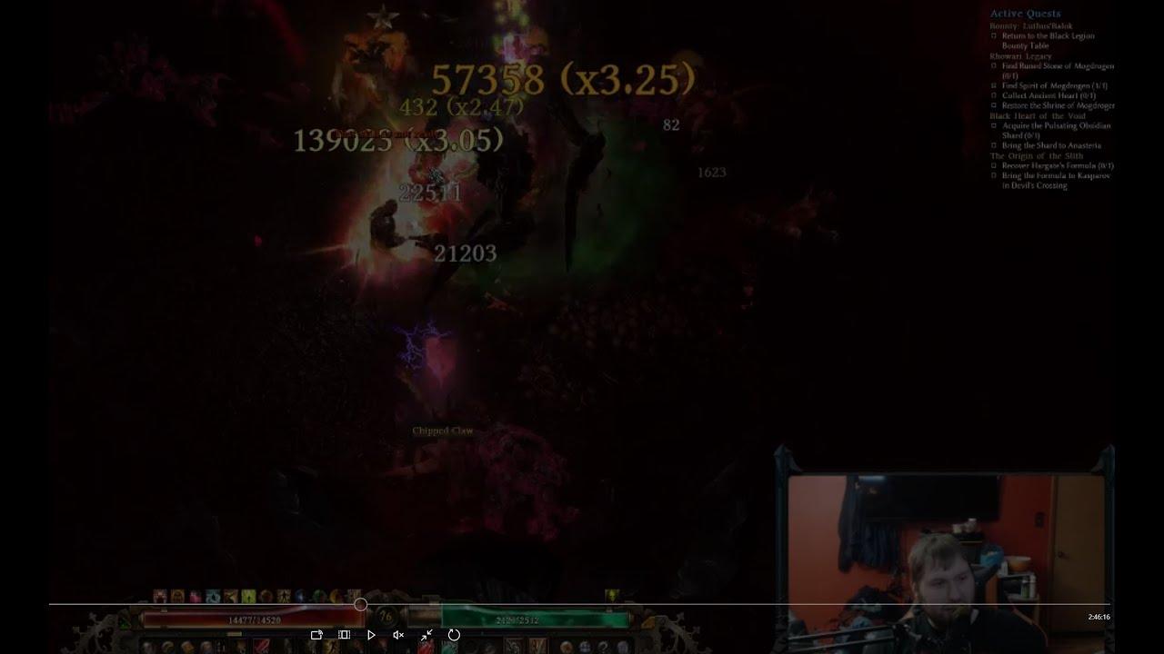 Grim Dawn: 2H Warder- Arc Destroyer 139k max hit! by