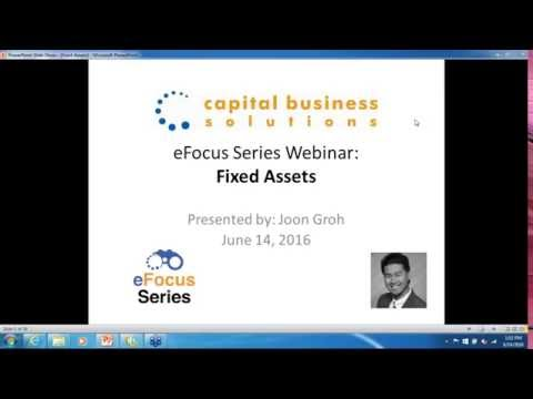 eFocus Series for Abila MIP Fund Accounting - Fixed Assets