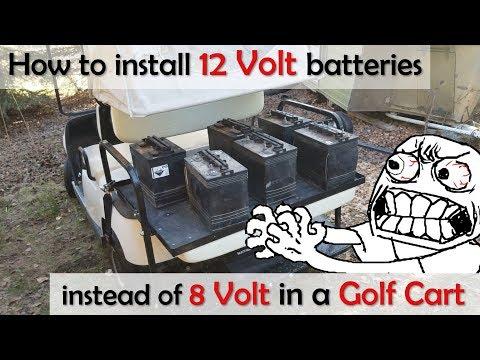 Using 12v Batteries In A 48v Golf Cart Instead Of 8 6