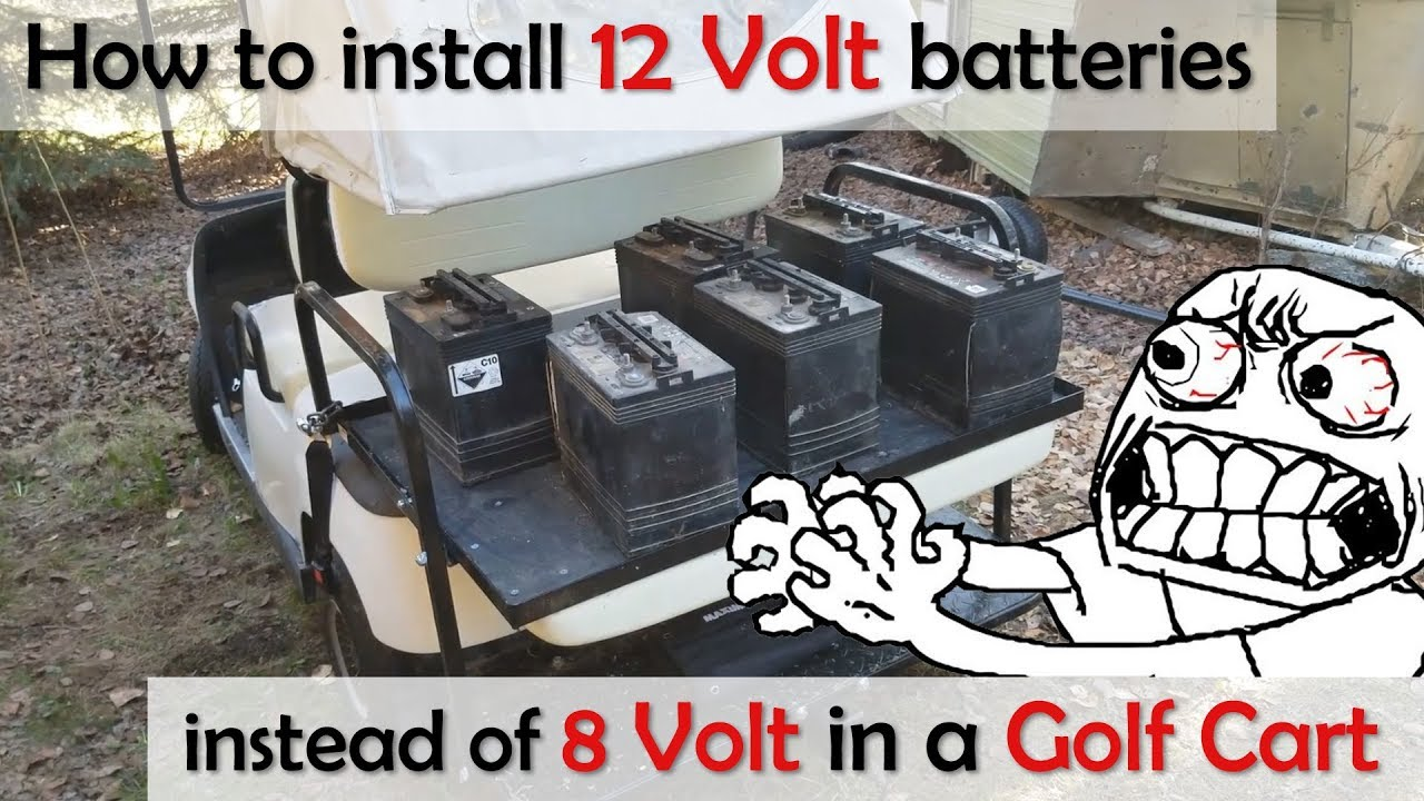 using 12v batteries in a 48v golf cart instead of 8 6 volt battery yamaha g19 and others  [ 1280 x 720 Pixel ]