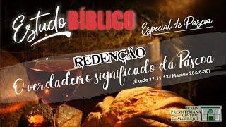 Estudo Bíblico Especial de Páscoa com Rev. Vagner Ferreira (Êxodo 12:11-13) - 10/04/2020