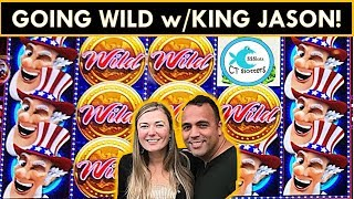 HE KEPT THROWING MONEY AT ME!💰 WILD AMERICOINS SLOT MACHINE BIG WIN, WHALES OF CASH BOOSTED!