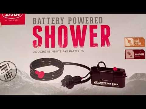 zodi battery powered shower