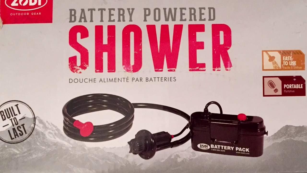 Zodi Battery Powered Shower Demo