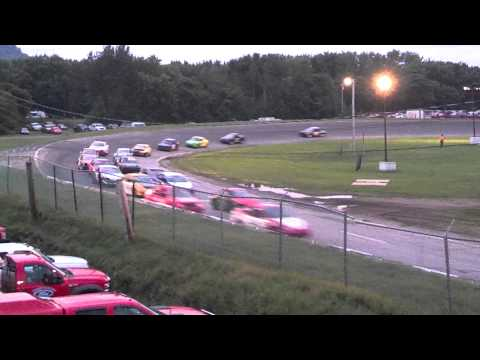Street Stock #23 Crash 7-28-12 | Riverside Speedway, Groveton NH
