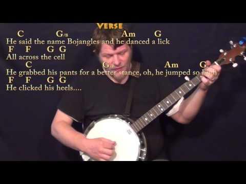 Mr Bojangles (Jerry Jeff Walker) Banjo Cover Lesson in C with Chord/Lyrics