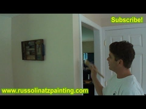 DIY How to Paint the Side of New Door Casings Freehand No Tape
