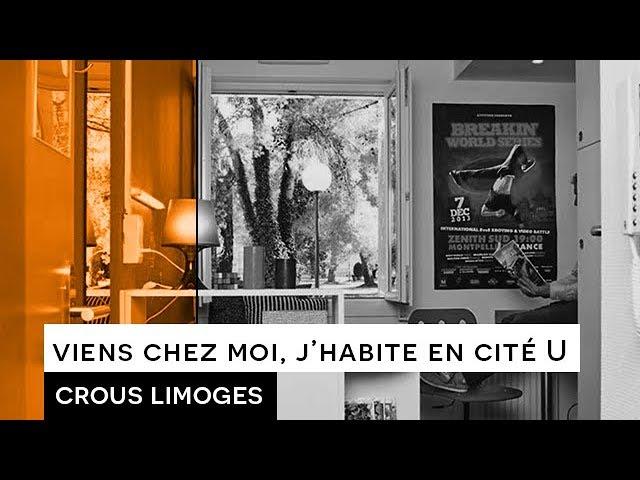 Viens chez moi j\'habite en cité U - Crous Limoges, l\'hébergement