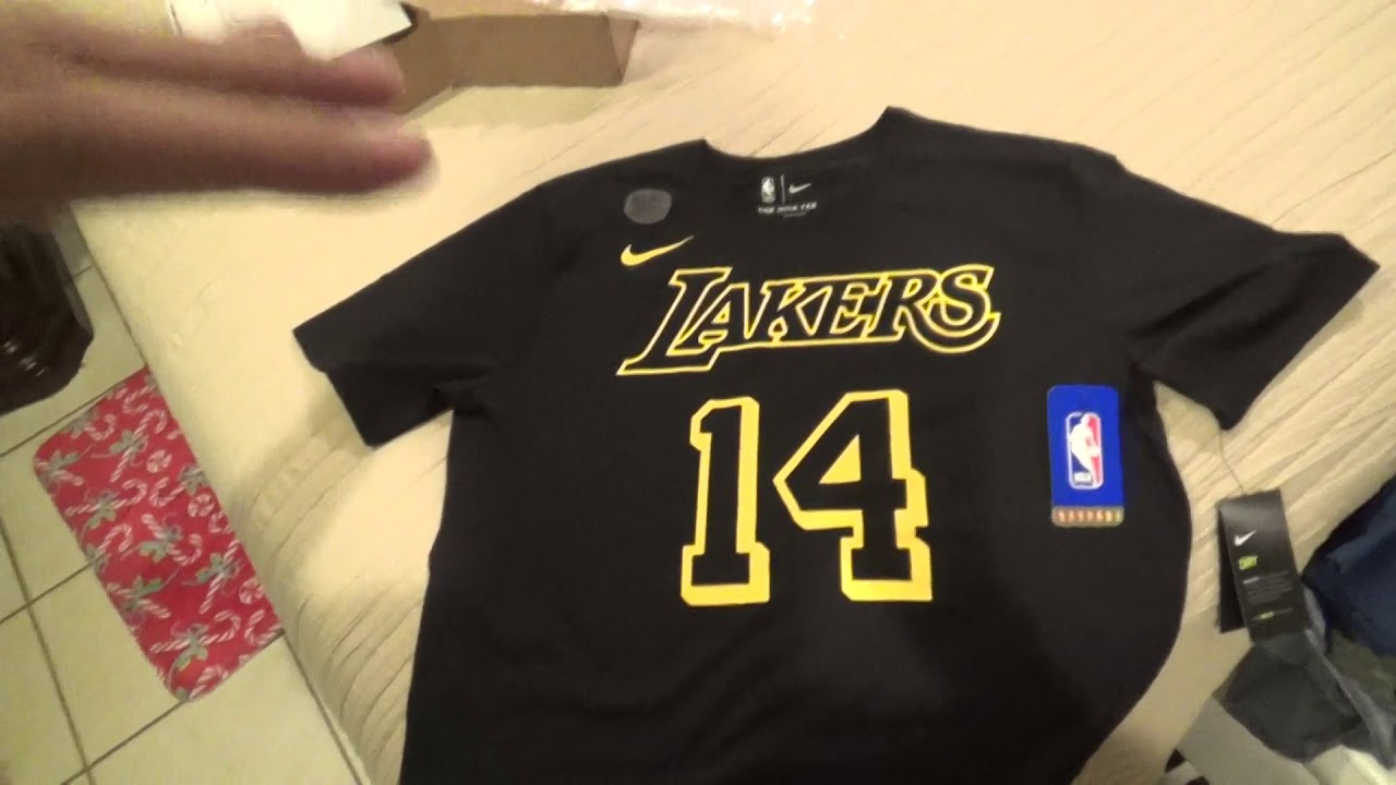 f7c2fd13e Los Angeles Lakers Brandon Ingram Player Shirt Unboxing Review - YouTube