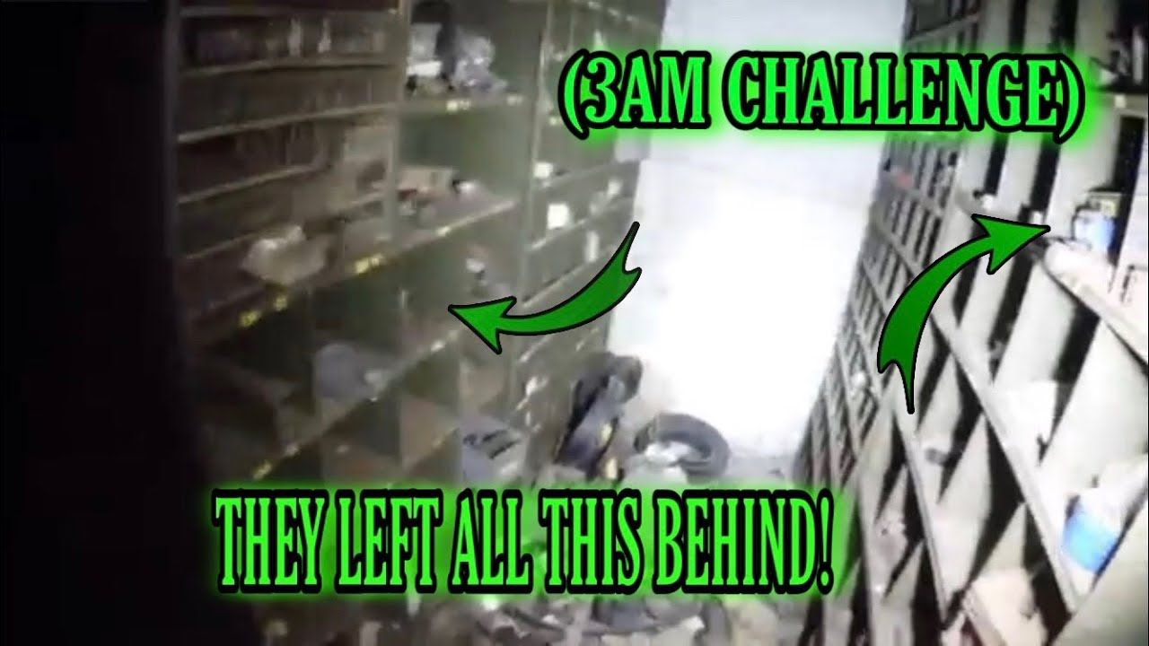 3AM CHALLENGE) ABANDONED STEEL MILL AT
