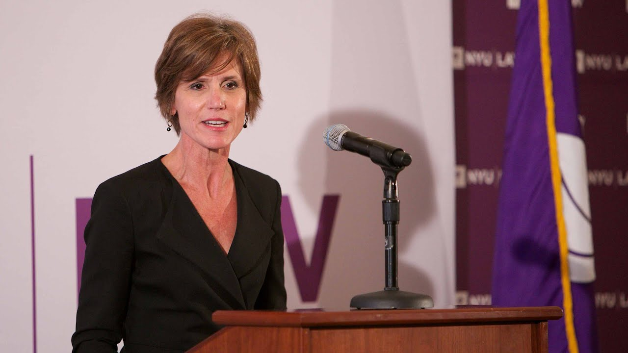 Image result for Image of Attorney General Sally Yates
