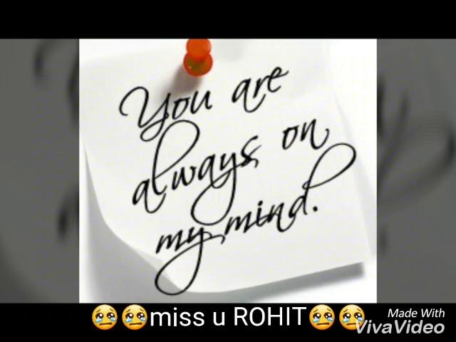 Miss u rohit dada...... #1