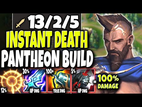This New Pantheon Season 11 Build INSTANT KILL ALL with W 🔥 LoL Top Pantheon Preseason s11 Gameplay