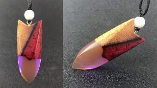 Amazing fashion purple orange graduated color pendant | Resin art  | epoxy resin art jewelry pendant
