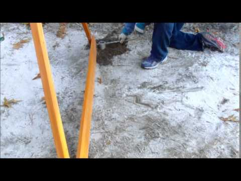 Anchoring A Children S Swingset With Toci Ground Anchor Youtube