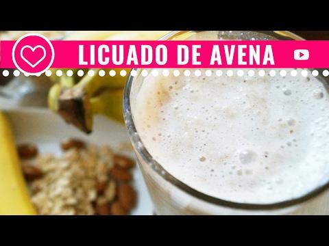 Desayuno Saludable ♥ Licuado de avena con plátano ♥ Desayuno Saludable