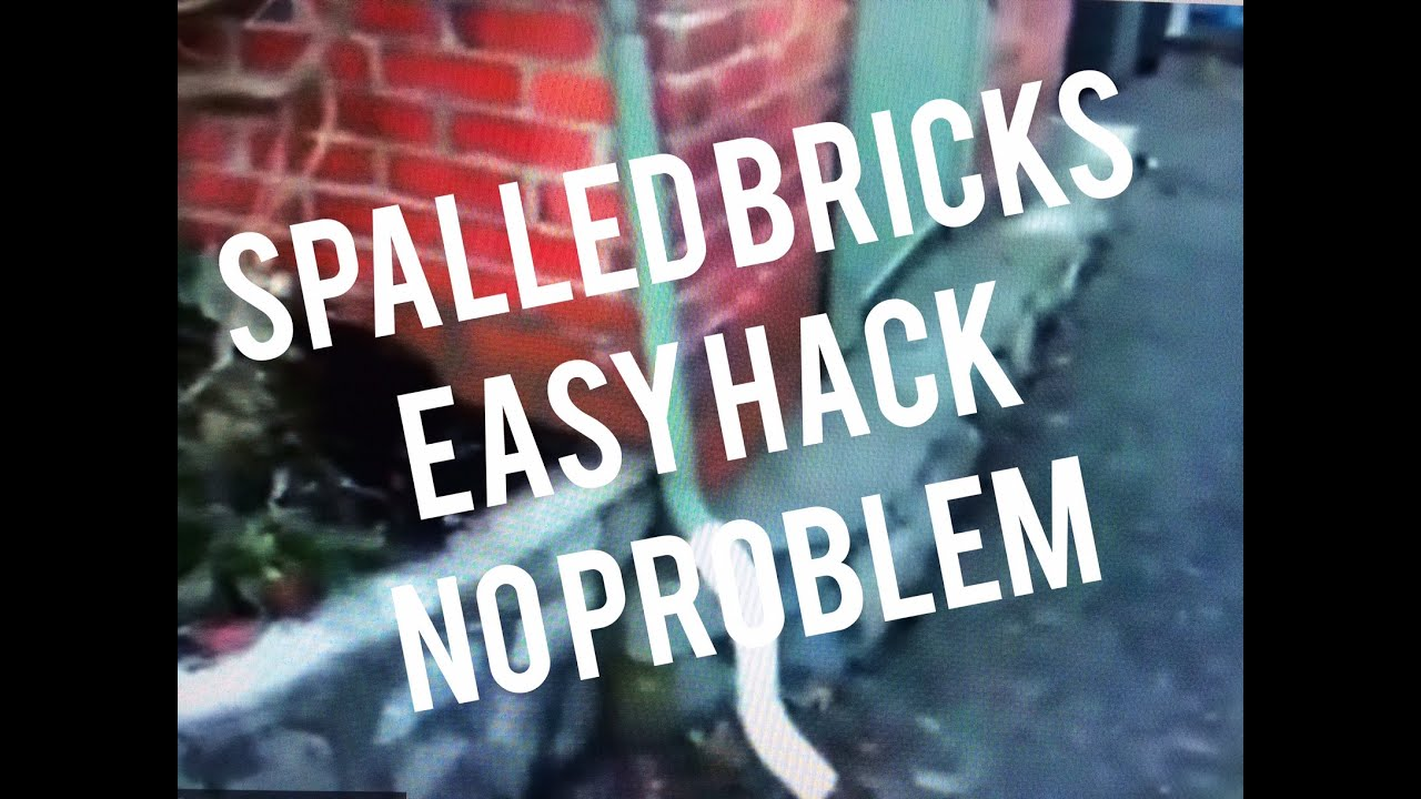 spalled broken brick repair how to fake finish easy bricklayer