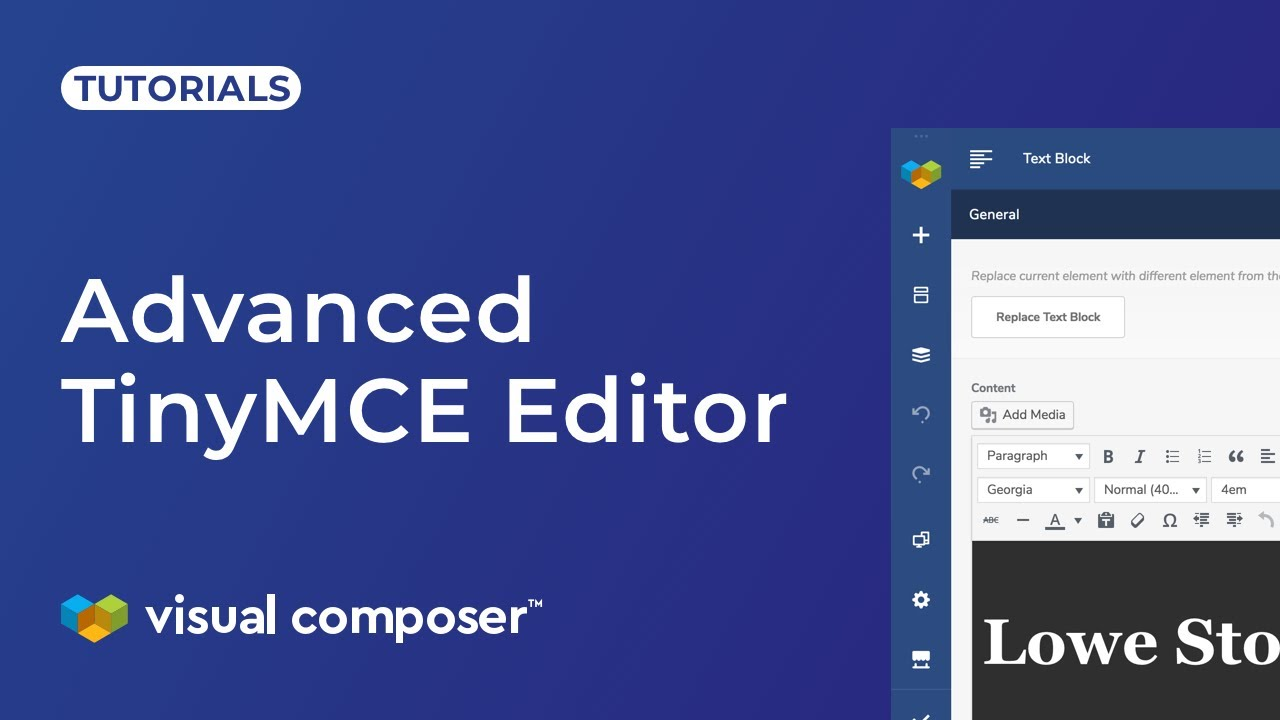 TinyMCE Editor - Visual Composer Website Builder