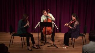 """Exponential Ensemble performing """"Trio for Flute, Violin and Cello"""" by Edgar F. Girtain IV (sample)"""