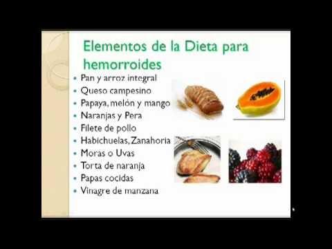 dieta para mejorar las hemorroides internas