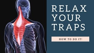 RELAX a Painful Tight Trapezius Muscle in Neck Fast: Exercises, Stretches, Massage & Posture Fixes