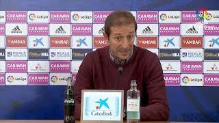 Rueda de prensa de  Luis Miguel Ramis tras el Real Zaragoza vs Albacete BP (0-1)