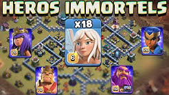 IMMORTELS HEROS avec 18X Guérisseuses   Incroyable Perfect HDV13 Clash of Clans